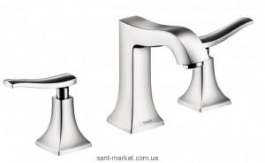 Смеситель двухвентильный на борт ванны Hansgrohe коллекция Metris Classic хром 31313000