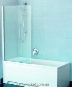Ravak Штора д/ванны PVS 1-80 Транспарент, профиль сатин, стекло 79840U00Z1