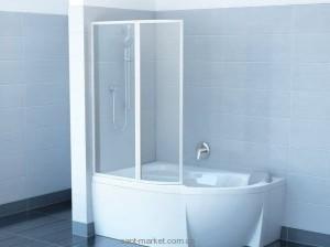Ravak Штора д/ванны VSK 2 РОСА 160 L Рейн, пласт. 76L9010041