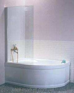 Ravak Штора д/ванны EVSK 1-100 РОСА 170 R Транспарент, стекло 76PA0100Y1