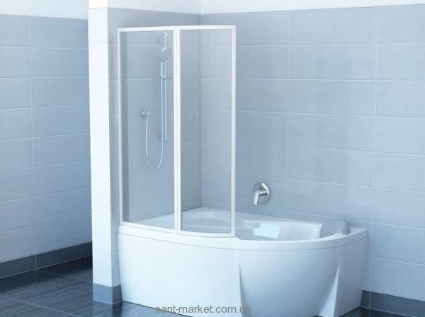 Ravak Штора д/ванны VSK 2 РОСА 150 L Рейн, пласт. 76L8010041