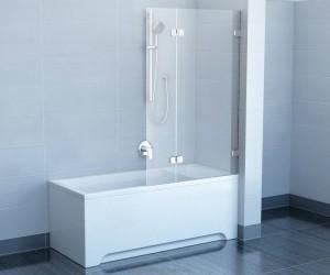 Ravak Штора д/ванны BVS 2- 100 L, Транспарент, хром 7ULA0A00Z1