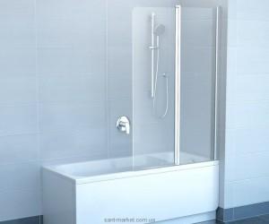 Ravak Штора д/ванны CVS 2-100 L,Транспарент,профиль белый 7QLA0100Z1