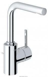 Смеситель для раковины однорычажный с донным клапаном Grohe коллекция Essence хром 32628000