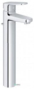 Смеситель для раковины однорычажный с донным клапаном высокий Grohe Europlus New хром 32618002