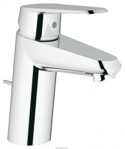 Смеситель для раковины однорычажный с донным клапаном Grohe Eurodisc Cosmopolitan хром 3319020E