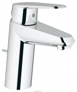Смеситель для раковины однорычажный с донным клапаном Grohe Eurodisc Cosmopolitan хром 33190002