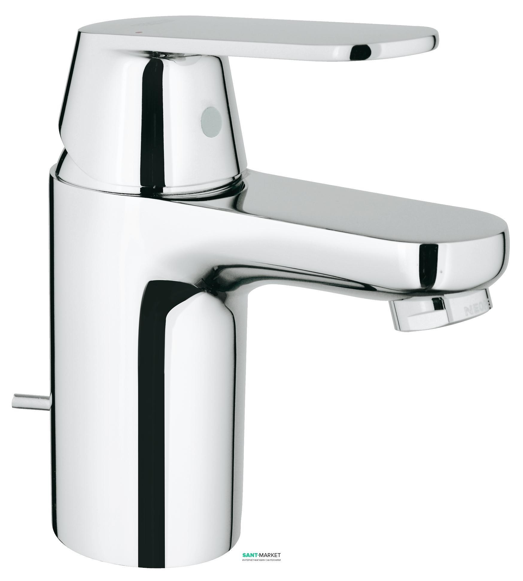 Смеситель для раковины однорычажный с донным клапаном Grohe Eurosmart Cosmopolitan хром 3282500E