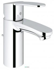 Смеситель для раковины однорычажный с донным клапаном Grohe Eurostyle Cosmopolitan хром 3355220E