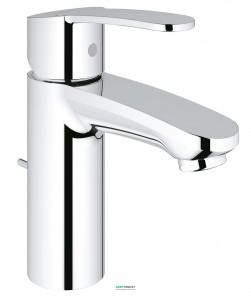 Смеситель для раковины однорычажный с донным клапаном Grohe Eurostyle Cosmopolitan хром 23037002