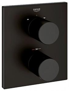 Смеситель с термостатом скрытый (встраиваемый) Grohe коллекция Grohtherm 3000 черный 19567KS0