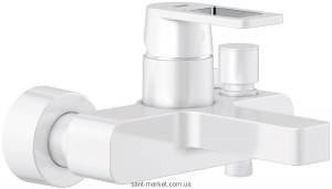 Смеситель однорычажный для ванны с коротким изливом Grohe коллекция Quadra белый 32638LS0
