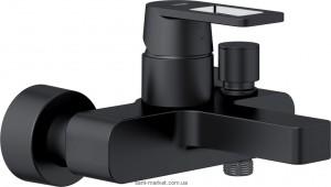 Смеситель однорычажный для ванны с коротким изливом Grohe коллекция Quadra черный 32638KS0