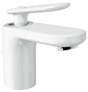 Смеситель для раковины однорычажный с донным клапаном Grohe коллекция Veris белый 32183LS0