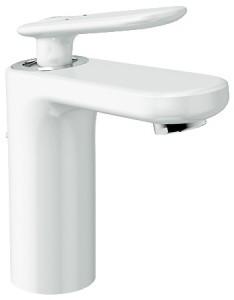 Смеситель для раковины однорычажный с донным клапаном Grohe коллекция Veris белый 23064LS0