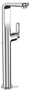 Смеситель для раковины однорычажный с донным клапаном напольный высокий Grohe Veris хром 32191000