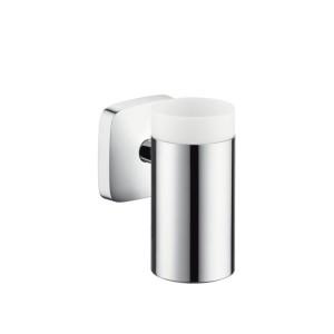 Hansgrohe Аксессуары Стаканчик для зубных щеток керамический, с держателем 41504000
