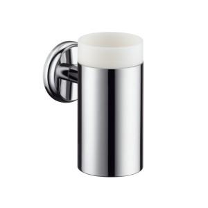 Hansgrohe Аксессуары Стаканчик для зубных щеток керамический, с держателем 41618000