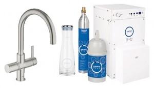 Набор смеситель для кухни с фильтром GROHE Blue однорычажный с газированием воды 31079DC0