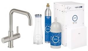 Набор смеситель для кухни с фильтром GROHE Blue однорычажный с газированием воды 31304DC0