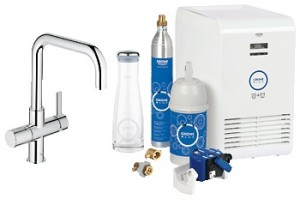 Набор смеситель для кухни с фильтром GROHE Blue однорычажный с газированием воды 31324000
