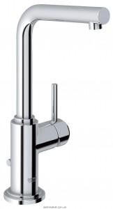 Смеситель для раковины однорычажный с донным клапаном высокий Grohe коллекция Atrio хром 32129001