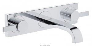 Смеситель для раковины двухрычажный настенный скрытый Grohe коллекция Allure хром 20189000
