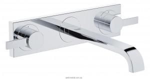 Смеситель для раковины двухрычажный настенный скрытый Grohe коллекция Allure хром 20193000