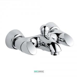 Смеситель двухвентильный для ванны с коротким изливом Grohe коллекция Aria хром 25081000