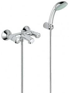 Смеситель двухвентильный для ванны с душем Grohe коллекция Avina хром 25086000