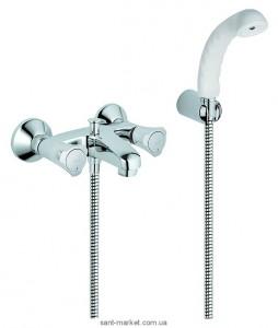 Смеситель двухвентильный для ванны с душем Grohe коллекция Costa L хром 25460001