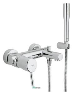 Смеситель однорычажный для ванны с душем Grohe коллекция Concetto хром 32212001