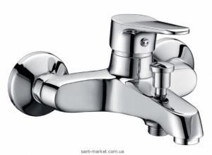 Смеситель однорычажный для ванны с коротким изливом Imprese коллекция Witow хром 10080
