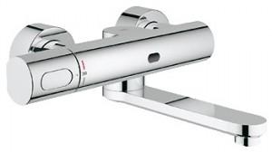 Смеситель для раковины электронный с термостатом Grohe Eurosmart Cosmopolitan E хром 36333000