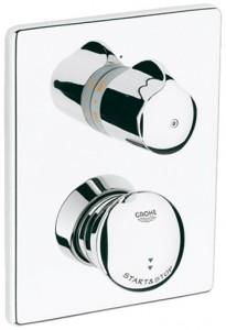 Смеситель с термостатом автоматический скрытый (встраиваемый) Grohe коллекиця Eurodisc хром 36247000