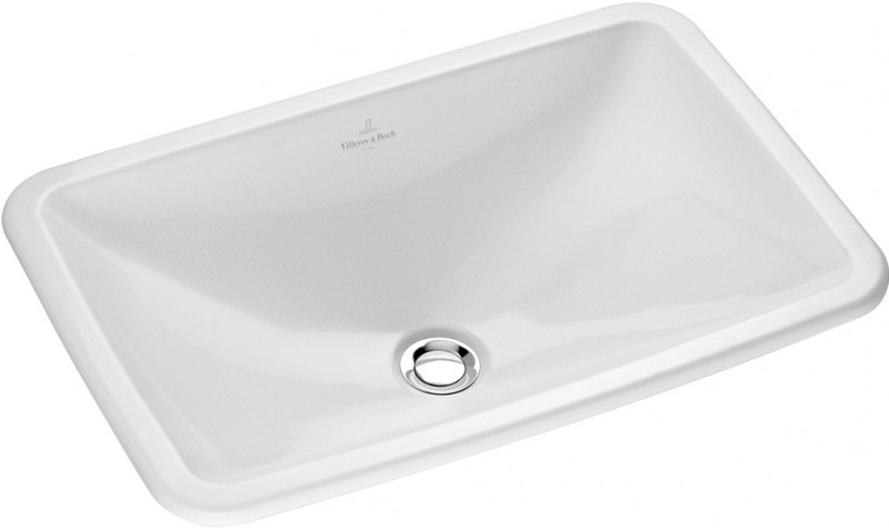 Раковина для ванной встраиваемая Villeroy&Boch коллекция Loop&Friends белая 61450001