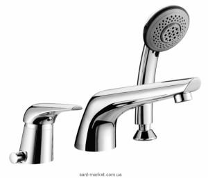 Смеситель на борт ванны с душем однорычажный Imprese коллекция Solnice хром I85210