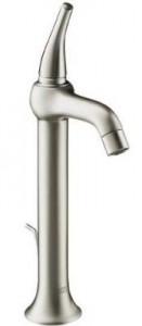 Смеситель для раковины однорычажный с донным клапаном высокий Hansgrohe Axor Terrano сатин 37020810