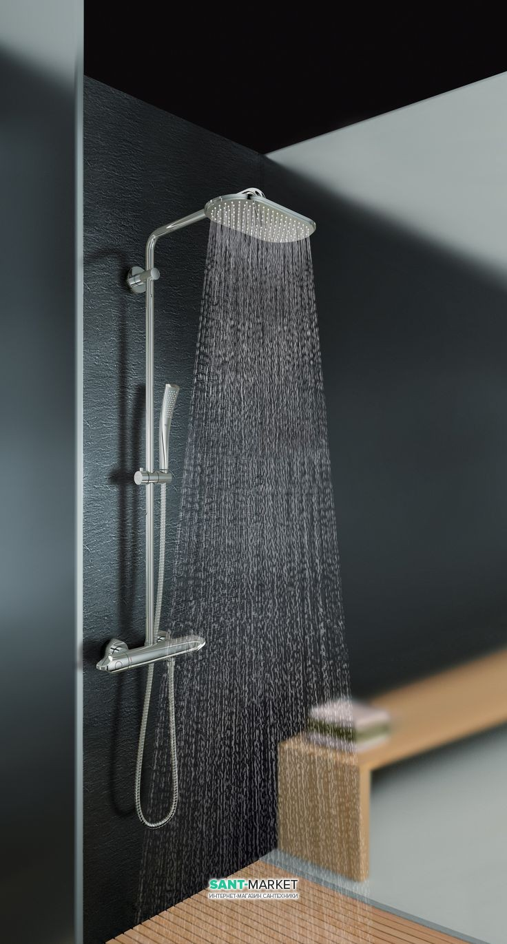 Душевая система с термостатом Grohe Rainshower System Veris 300 для настенного монтажа 27472000