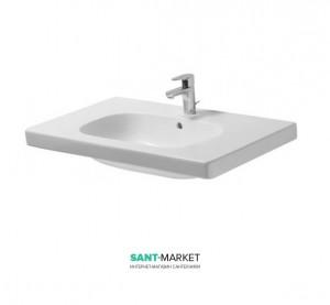 Раковина для ванной на тумбу умывальник-столешница Duravit коллекция D-Code 85х48х18 белая 03428500002