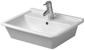 Раковина для ванной встраиваемая Duravit коллекция Starck 3 белая 0302560000