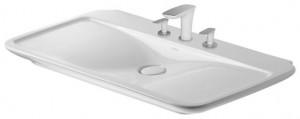 Раковина для ванной встраиваемая Duravit коллекция PuraVida белая 0371100000