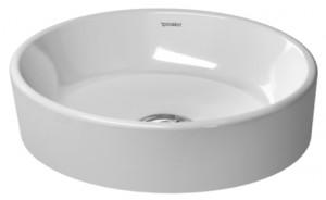 Раковина для ванной накладная круглая Duravit Starck 2 44х40х11.5 белая 2321440000
