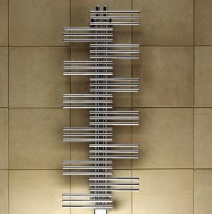 Электрический полотенцесушитель скрытый (BOX) Zehnder Yucca Plus 500х1340х40 дизайнерский хром YSE 50-130