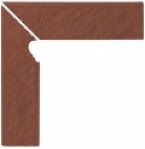 Опочно Симпл ред цоколь ступенчатый Левый структурный 3-d 30x8