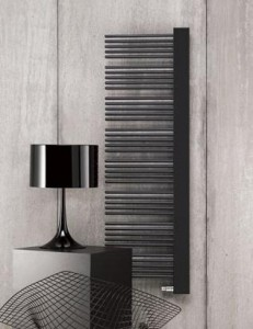 Электрический полотенцесушитель скрытый (BOX) Zehnder Yucca Plus 582х1750х60 дизайнерский черный YPER-150-60/RD