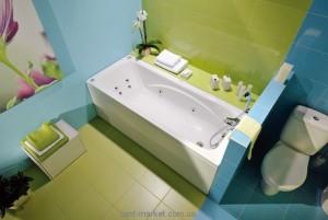Ванна акриловая прямоугольная PoolSpa коллекция Klio 130х70х61 PWPAX..ZS000000 + рама