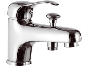 Смеситель для ванны однорычажный с коротким изливом Remer Rubinetterie Musa хром M05-A