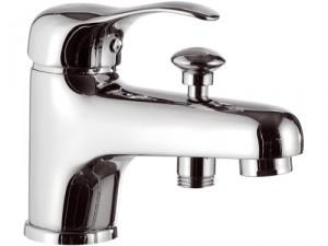 Смеситель для ванны однорычажный с коротким изливом Remer Rubinetterie Musa хром/золото M05-C