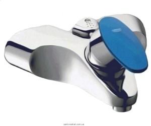 Смеситель однорычажный для ванны с коротким изливом Grohe коллекция Taron хром/голубой 33524000IN